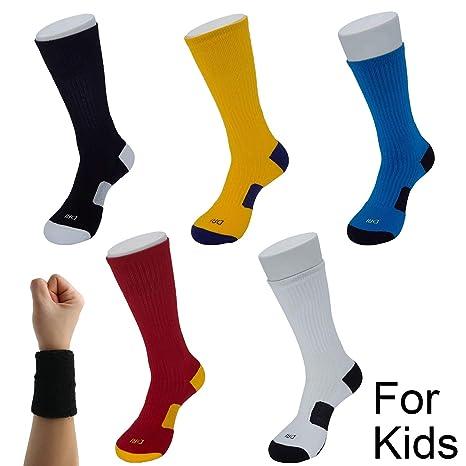 Dee Plus Calcetines De Fútbol Niño | 1 Pares Calcetines Deportivos | Calcetínes Antideslizantes | Calcetines