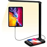 Sunfuny LED Desk Lamp with Qi Wireless Charger, USB Charging Port, Office Table Lamp, Bedroom Desktop Light, 5 Lighting…