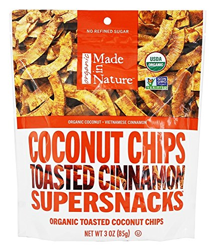 Made in Nature Organic Toasted Coconut Chips Vietnamese Cinnamon Swirl-3 oz Bag