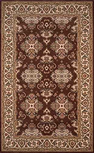 Momeni Rugs PERGAPG-01COO5080 Persian Garden Collection, 100% New Zealand Wool Traditional Area Rug, 5' x 8', Cocoa