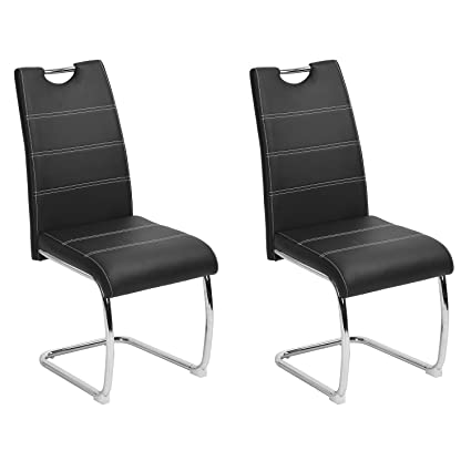 amazon com dining chairs set of 2 aingoo upholstered pu leather