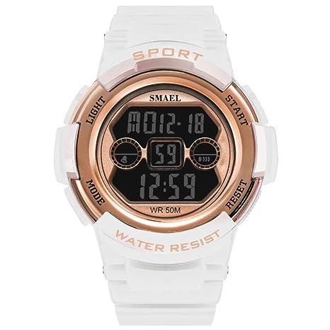 WULIFANG Deportes Digital Moda Femenina Girl Watch Reloj Digital Chica Sports Watch Waterproof Rosa China