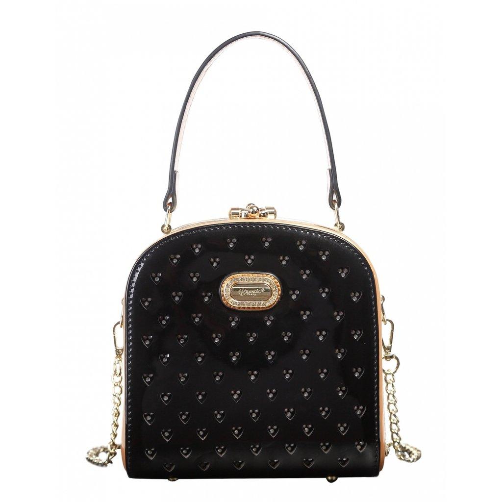 Black Verona H & L New Women's Shinny Twinkle Star Cute Boxy Clutch