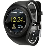 Sipring 2018 Smart Watch Phone Mate Full Round Screen SIM for Android&iOS with Fitness Pedometer