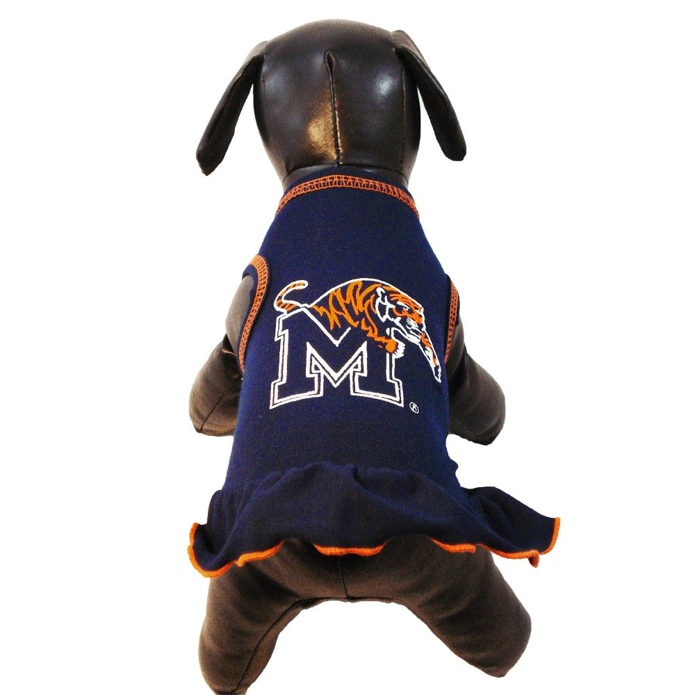 Small All Star Dogs Memphis Tigers Cheerleader Dog Dress, Small