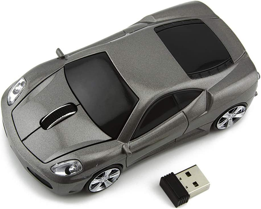 Ai5G for Ferrari Car Mouse Wireless Sports Car Mouse Computer Mice 2.4GHz 1600dpi Optical Gaming Mice (Gray)