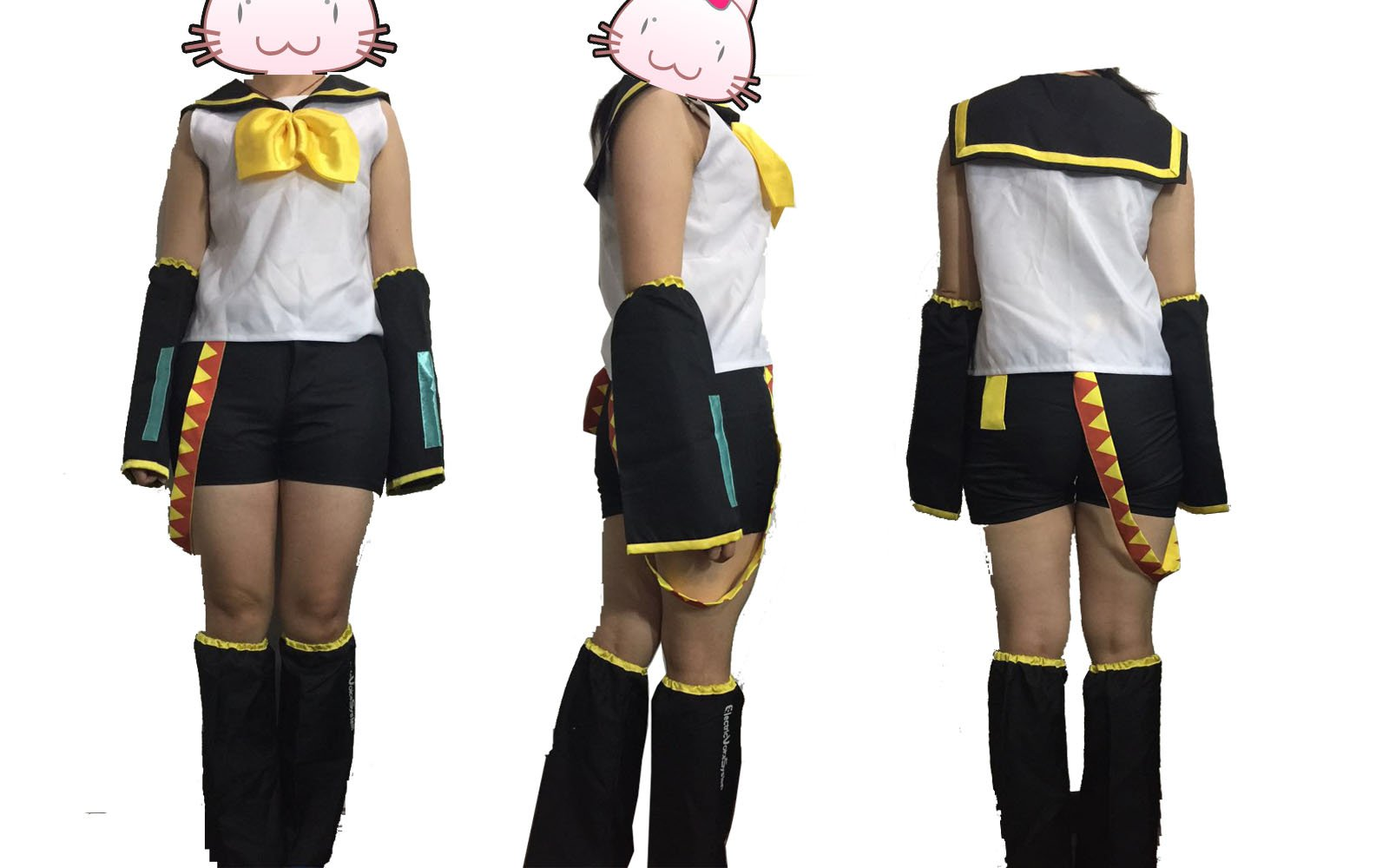 fantasycart Vocaloid 2 Rin Kagamine Cosplay Halloween Costume Complete Set Size S