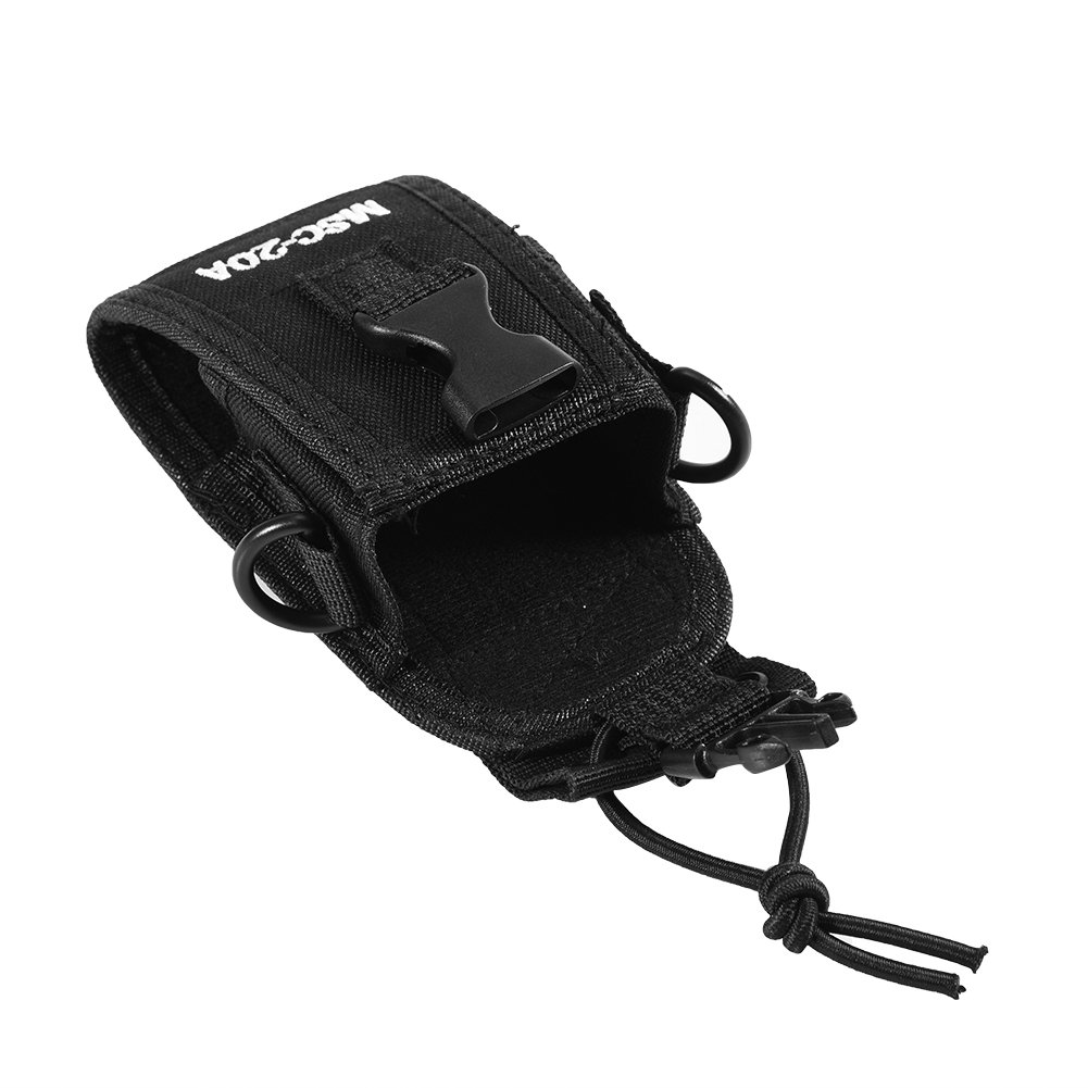 Zerone Universal Walkie Talkie Nylon Belt Case Bag with Adjustable Shoulder Strap Two Way Radio Holder Holster Case MSC-20A For Kenwood/Motorola/HYT Two-Way Radio by Zerone (Image #8)