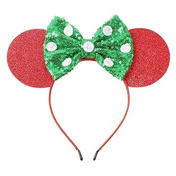 Amazon Com Glitter Felt Minnie Mouse Ears Headband Big