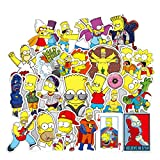 Meet Holiday The Simpsons Decoration Stickers Waterproof Vinyl Scrapbook Stickers Car Motorcycle Bicycle Luggage Decal 50 PCS Laptop Stickers