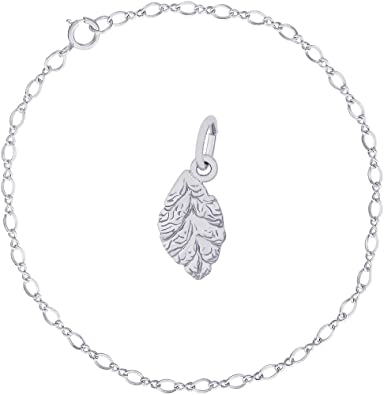 Leaf Charms Sterling Silver Links