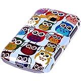 gada - Handyhülle für Samsung Galaxy Young S6310 Schutzhülle Hardcase im stylischen Design - kleine süße Eulen Owl bunt