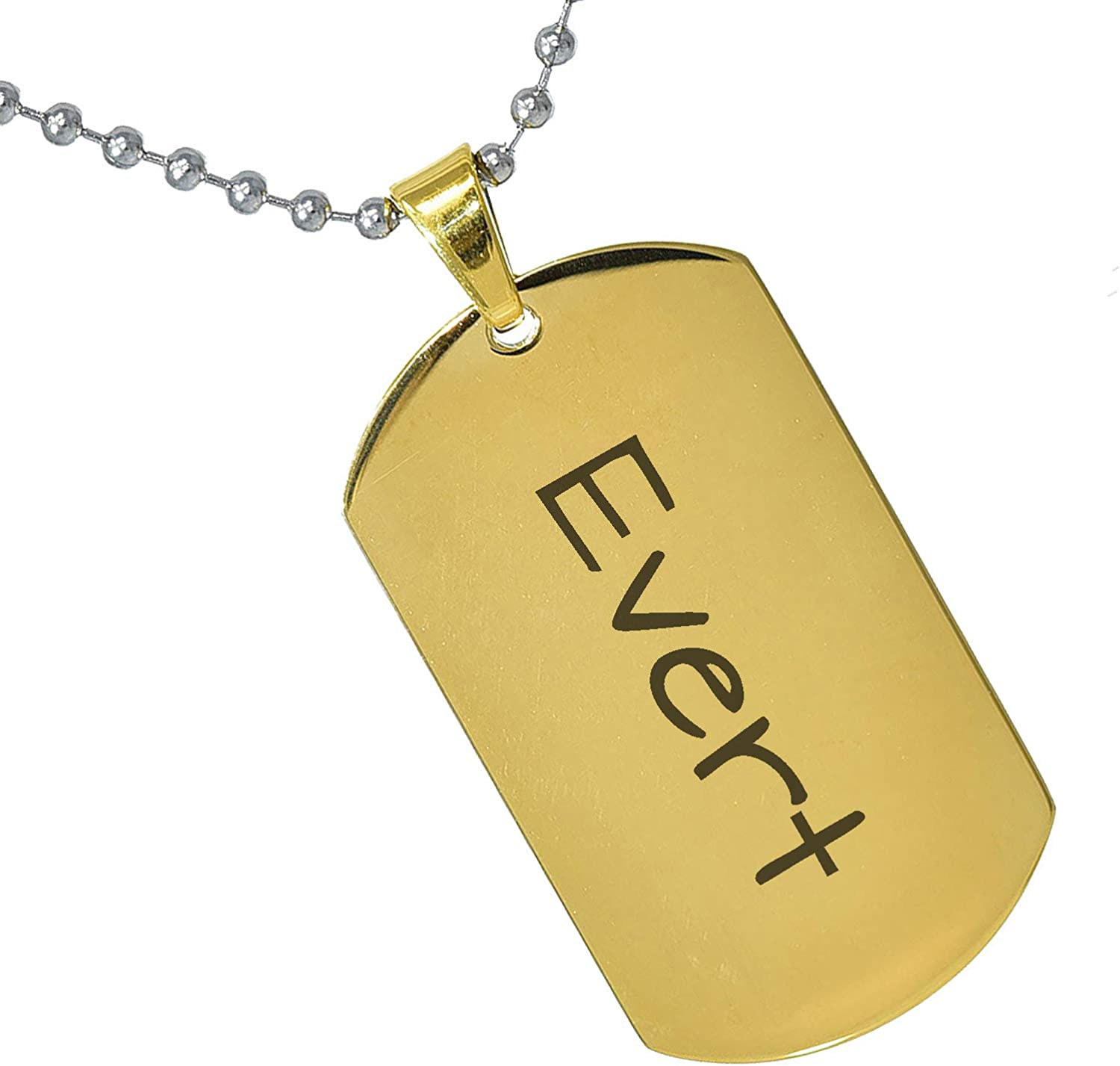 Stainless Steel Silver Gold Black Rose Gold Color Baby Name Evert Engraved Personalized Gifts For Son Daughter Boyfriend Girlfriend Initial Customizable Pendant Necklace Dog Tags 24 Ball Chain