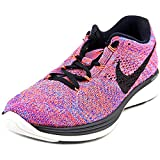 Nike Flyknit Lunar 3 Women US 6 Pink Running Shoe