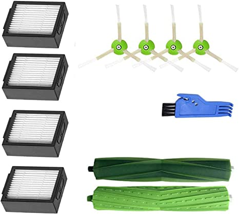 Accesorios para iRobot Roomba i7 i7+//i7 Plus E5 E6 E7 Kit 13 Piezas HoHome Kit Cepillos Repuestos para iRobot Roomba Serie i7