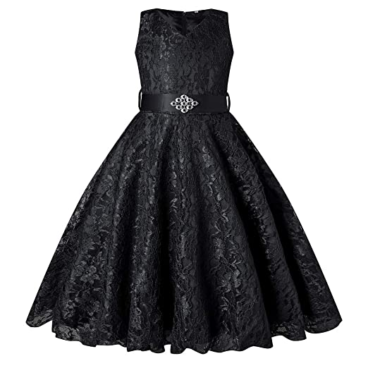 Amazon.com  GoodCorsetMall Flower Girls Tulle Lace Pageant Prom Dress  Princess Wedding Party Dress with Belt  Clothing 5b720489e427