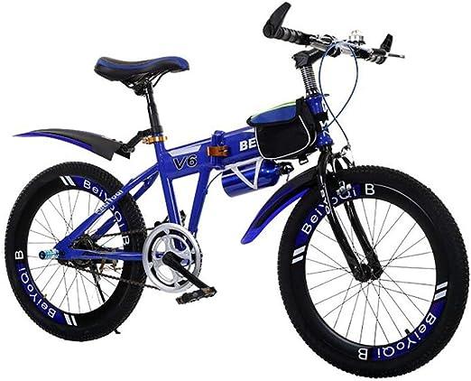 HWZXC Bicicletas Plegables para niños, Bicicletas Plegables para Estudiantes Bicicleta Plegable para niños Bicicleta de montaña Ultraligera Bicicletas Plegables para niños y niñas: Amazon.es: Deportes y aire libre
