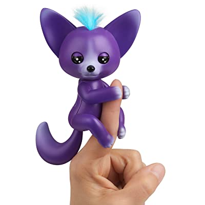 WowWee Fingerlings - Interactive Baby Fox - Sarah (Purple & Blue): Toys & Games