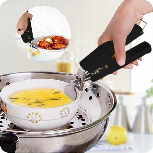 Pinzas de acero inoxidable para recoger platos calientes y ollas ...