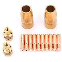 Welding Torch Accessory,14Pcs/Set Welding Set Nozzle Contact Tip Mig Parts Fit Miller
