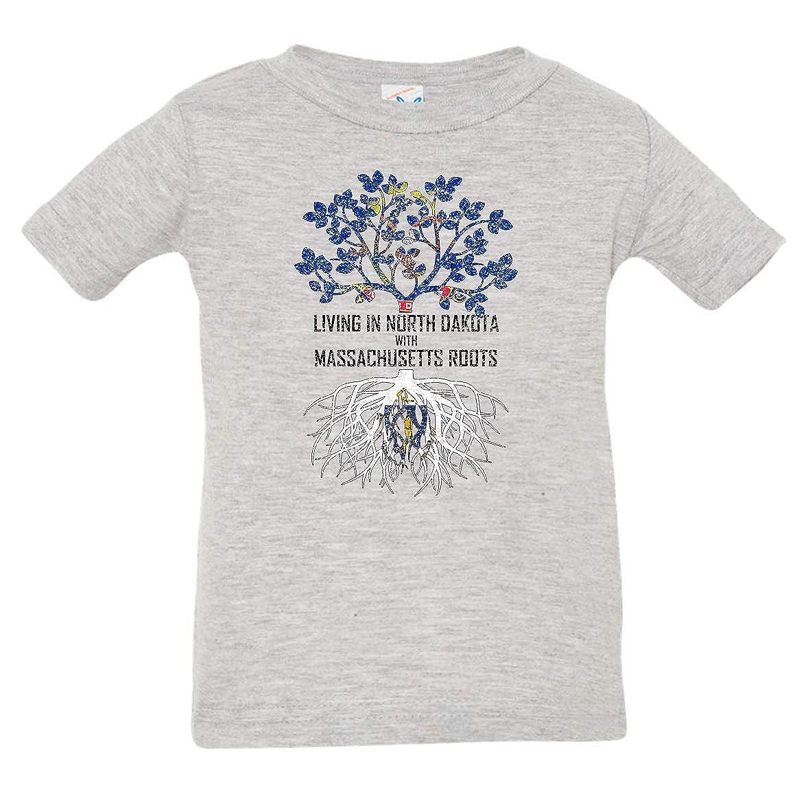 Tenacitee Babys Living in North Dakota with Massachusetts Roots Shirt