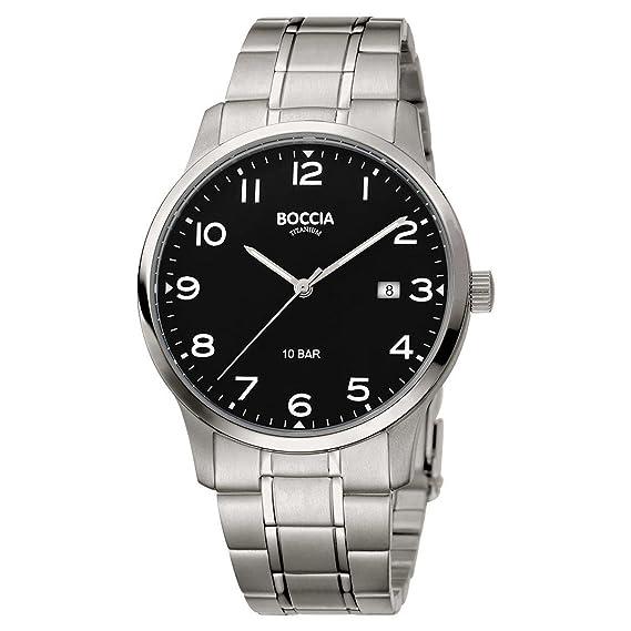 Boccia Herren Mit 3621 Uhr Quarz 01 Titan Armband Analog XkuZiP