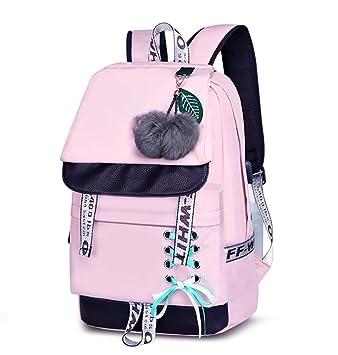 7f1ae920b430f Asge Schulrucksack Mädchen Schulranzen Jungen Schultasche mit Ergonomischem  Design Rucksack Campus Backpack Nylon Wasserdicht Daypacks Damen