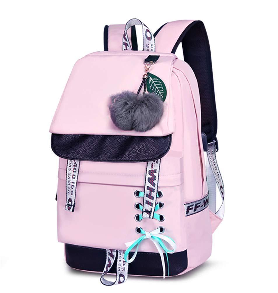 f1fb778980ff0 JUND Damen Mode Schultasche Kawaii Druck Rucksack Mädchen Lässig  Wasserdicht Backpack Schule Teenager Daypack Männliche und