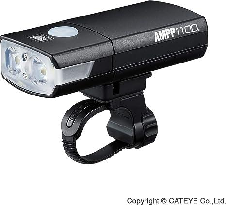 CatEye Ampp 1100 Front Luz para Bicicleta, Unisex Adulto, Negro, Talla única: Amazon.es: Deportes y aire libre