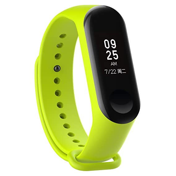 XIHAMA Watch Strap for Xiaomi mi Band 3, Soft Silicone Replacement Band Fitness Sports Activity Bracelet Wristband with Clasp for Xiaomi Mi Band 3 ...