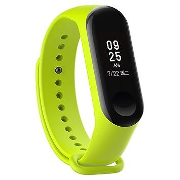 XIHAMA Silicone Remplacement Bracelet de Montre pour Xiaomi mi Band 3 / Mi Band 4 activité de Remise en Forme (Green)