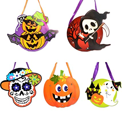 Diy Halloween Trick Or Treat Bags.Amazon Com 5 Pcs Halloween Diy Trick Or Treat Bags Gift Bag