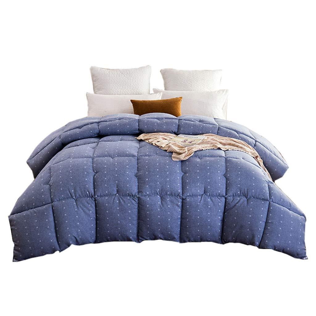 セール特価 シンプルな秋と冬の厚い温かい個別のダブルキルトを保つ暖かいソフトコアのベッドルームのホステルのベッドのライニングを保つ (色 : B07MF9S8GK 青, サイズ さいず (色 : 220×240cm(4kg)) B07MF9S8GK 200×230cm(3kg) 200×230cm(3kg) 青 青 200×230cm(3kg), PEACEFUL TIMES BY TOWA:715bf35b --- itourtk.ru