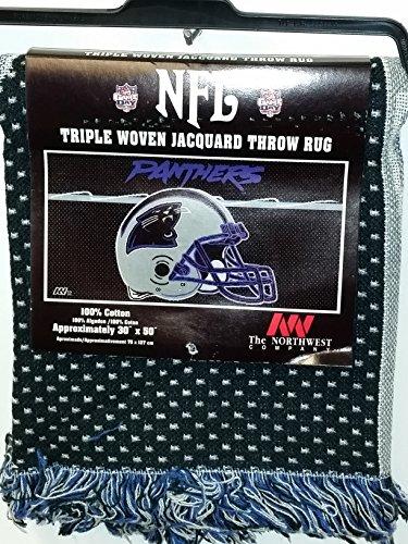 """NFL Throw Rug, """"Carolina Panthers"""" NEW"""