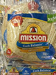 Mission Low Carb Soft Taco Whole Wheat Tortilla\'s 12oz./8 Ct. (Pack of 6)