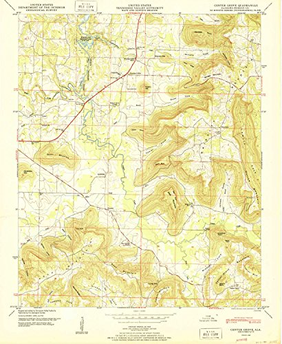 YellowMaps Center Grove AL topo map, 1:24000 Scale, 7.5 X 7.5 Minute, Historical, 1950, Updated 1950, 26.7 x 21.9 in - Paper ()