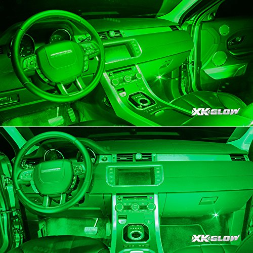 green 4pcs 36 led waterproof three mode neon accent light kit for car interior trunk truck bed. Black Bedroom Furniture Sets. Home Design Ideas