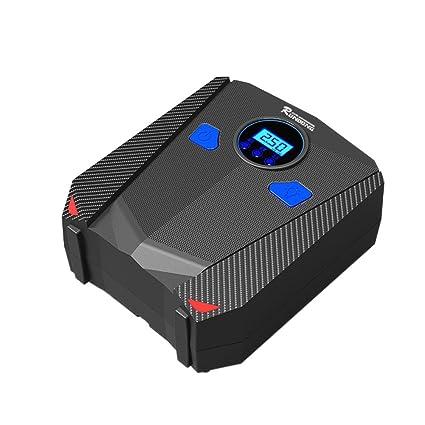 12 V compresor de aire portatifs Digital Bomba de inflado fusible integrado con pantalla HD lámpara