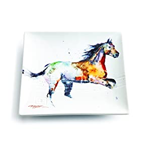 Demdaco 3005210348 Big Sky Carvers Running Horse Snack Plate, Multicolored