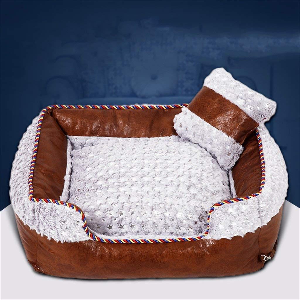 3 SmallHeiPlaine Pet Sofa Cat Litter Kennel Cat Dog House Pet Bed Four Seasons Keep Warm Comfortable Soft Detachable Wash (color    1, Size   Large)