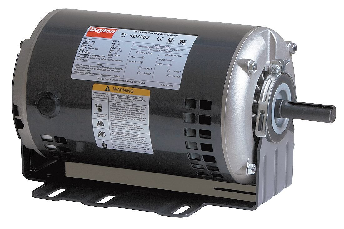 Belt 3//4 HP 60hz Dayton 1D170 Motor