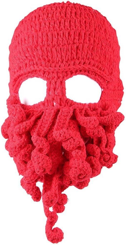 Kafeimali Child Head Barbarian Beanie Original Foldaway Beard Caps Octopus Pirate Hats for Baby