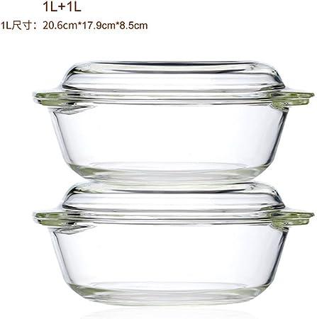 Recipientes de vidrio pyrex con tapa transparente microondas masa ...
