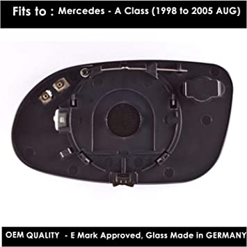 Driver Side Citroen Relay 1998,1999,2000,2001,2002,2003,2004,2005 Heated Silver Wing//Door Mirror Glass Including Base Plate RH