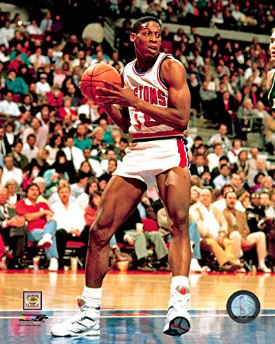 Dennis Rodman Detroit Pistons NBA Action Photo (Size: 8