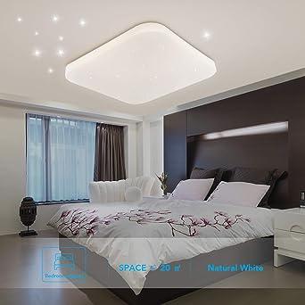 Plafonnier LED Salle de bain Cuisine Chambre Lampe Plafond LED Salon Salle  à manger Étude Balcon Couloir Moderne Carré Plafonniers Imperméables ...