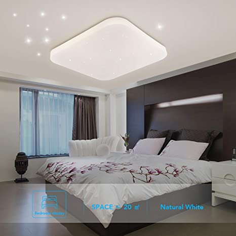 Deckenleuchte LED Badezimmer Küche Schlafzimmer LED Lampe Decke Wohnzimmer  Esszimmer Studie Balkon Flur Bad Moderne Quadratische Wasserdichte ...