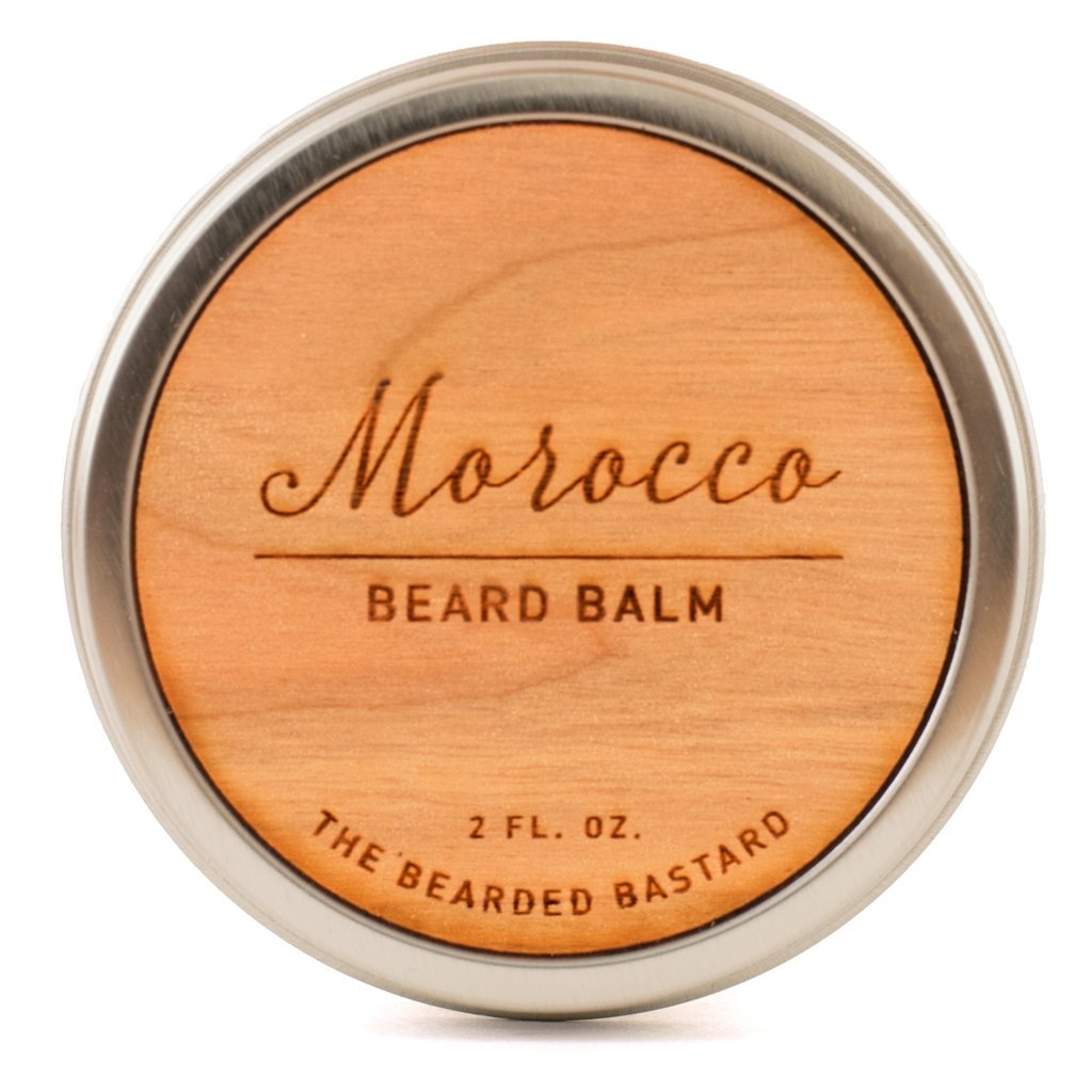 Morocco Beard Balm by The Bearded Bastard | For A More Attractive & Healthy Beard | Mens Beard Balm, Beard Wax, Beard Care, Beard Grooming Kit, Beard Conditioner, Mens Grooming, Hydrating |Essential Oils, Moisturizer, Shea Butter, Coconut Oil, 2 oz, NA