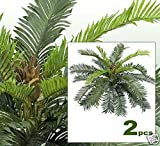 TWO 24'' Cycas Palm Artificial Tree Silk Plants 020