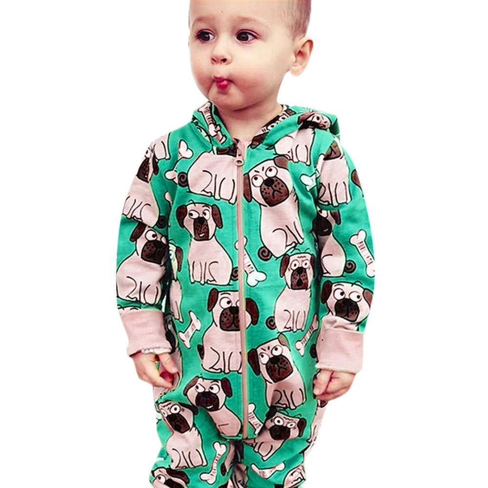 ♡♡POLPqeD bebé Monos Mangas largas bebé Monos Traje Ropa Bebe Niña Recién Nacido Bebé Mono Niña Niño 6-24 Meses Mameluco Bebe niño Invierno Pijama Bebés Mameluco Sudadera con Capucha Tops 1PC